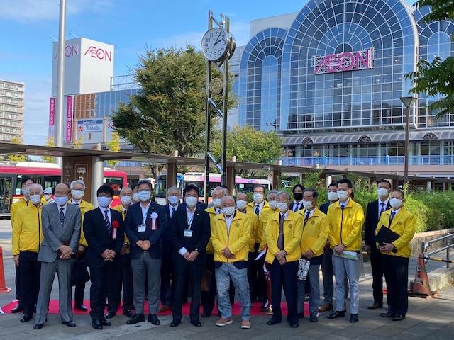 創立40周年 新浦安駅前時計塔 贈呈式
